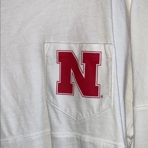 white long sleeve Nebraska shirt